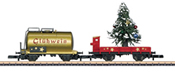 Christmas supplement pack. Wagenset with siding and Christmas tree.