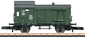 German Freight Train-Baggage Car Pwg Pr 14 of the DB