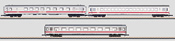 3pc Intercity Passenger Car Set