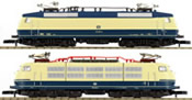 German 2pc Electric Locomotive Set BR 120 and BR 103 of the DB