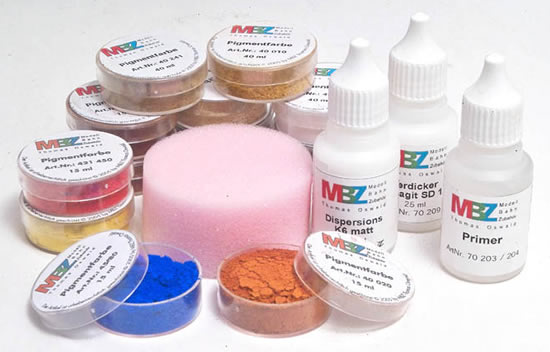 MBZ R72210 - Pigment Paint Set with primer sponge