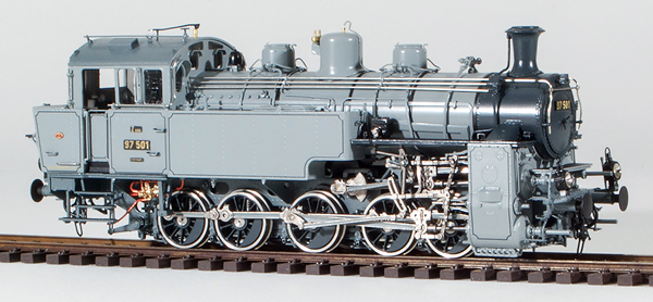 Micro Metakit 04200H - Class 97.501 Adhesion/Rack Loco, Photo Gray Livery