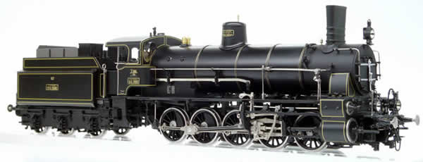 Micro Metakit 12721HL - Austrian KkStB Class 80 with Giesel Smoke Stack Black Livery