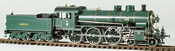 Class S3/5 Express Loco #3322, Green and Black Livery with Gold Boiler Bands
