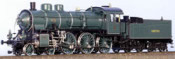 Class S3/5 Express Loco #3353, Green and Black Livery with Gold Boiler Bands