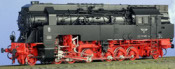 Class 97.401 Adhesion/Rack Loco Black/Red Livery, Round Smoke Stack