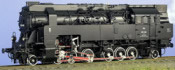 Class 297.401 Adhesion/Rack Loco, Black/Red Livery, Giesl Smoke Stack
