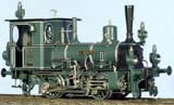 "Class DVI ""Eurydice"" Tank Loco, Green/Black Livery with White Pin Stripping"