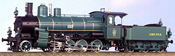 Class E-I Heavy Freight Loco #2063, Green and Black Livery with White Pin Stripping