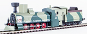 Polish Camoflaged Amoured Steam Locomotive Class 73 of the PKP