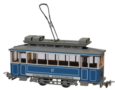 Navemo 21102320 - Swiss City of Zurich Vintage Electric Street Car Ce 2/2 97 (non-motorized)