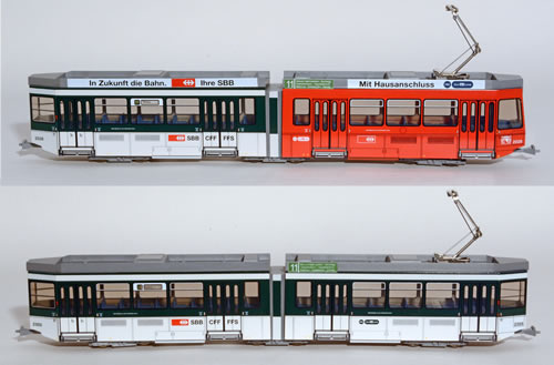 Navemo 22210001 - Swiss City of Zurich Intercity-Tram Electric Street Car Set Class Be 4/6 - 2028 & 2305 (motorized)