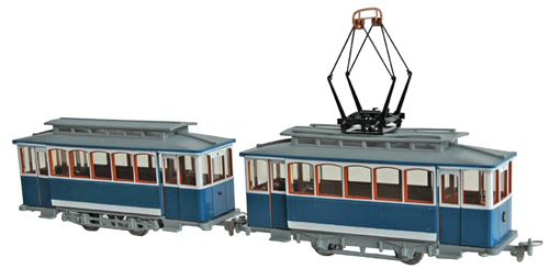 Navemo 41010001 - Swiss Electric Street Car Set - blue & white (motorized)