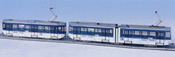 Swiss City of Zurich Kunsthaus Tram Electric Street Car Set Be 4/6 & Be 2413 (motorized)