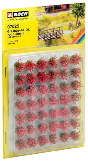 Noch 07025 - Grass Tufts XL blooming, red
