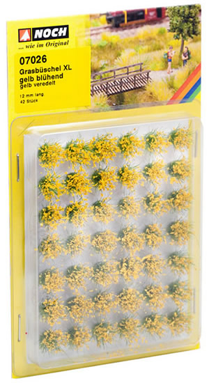 Noch 07026 - Grass Tufts XL blooming, yellow flock