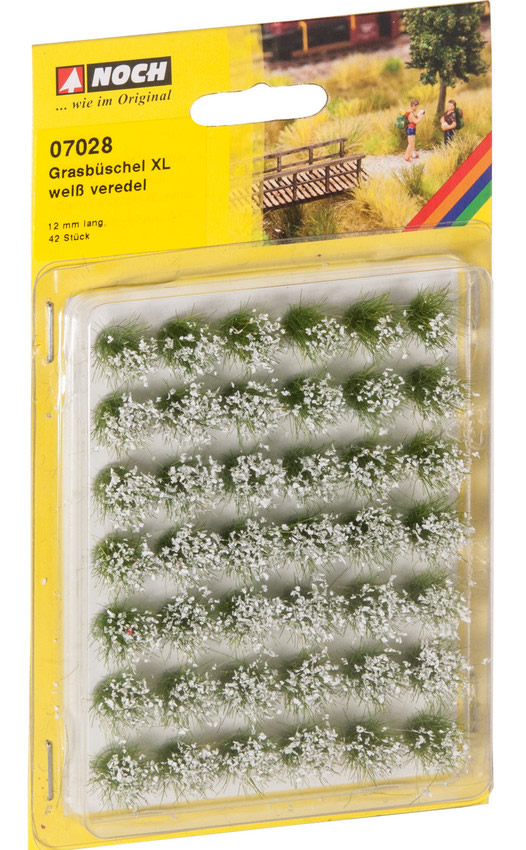 Noch 07028 - Grass Tufts XL blooming, white