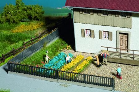 Noch 07138 - Flowerbeds, yellow/blue