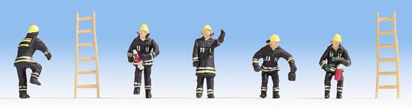 Noch 15021 - Fire Brigade (black protective clothes)