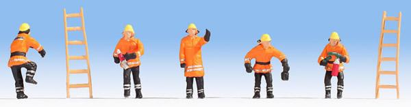 Noch 15022 - Fire Brigade (orange protective clothes)