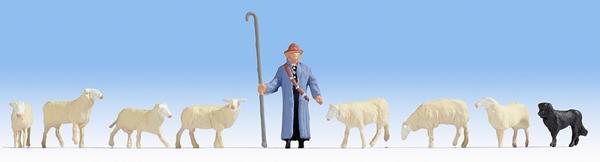 Noch 15748 - Sheep and Shepherd