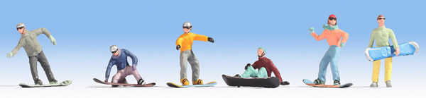 Noch 15826 - Snowboarders