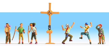 Noch 15874 - Mountain Hikers with Cross