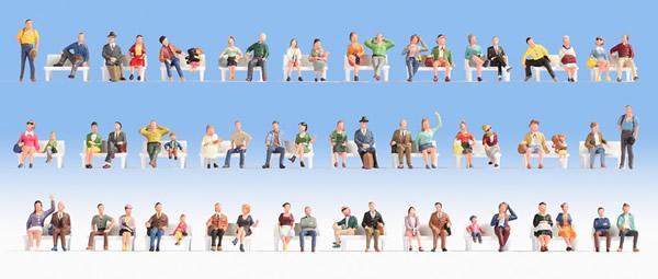Noch 16071 - Mega Economy Figures Set Sitting People