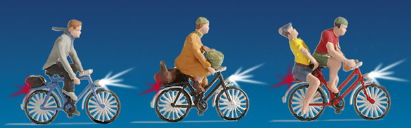 Noch 17001 - Economy Pack Illuminated Cyclists