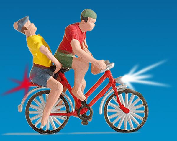 Noch 17571 - Cyclist, illuminated
