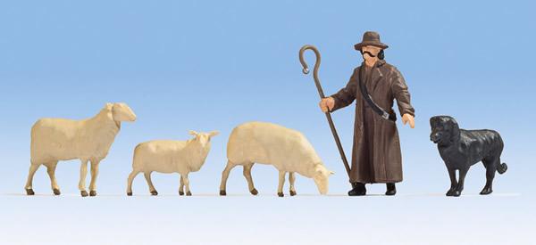 Noch 17901 - Sheep and Shepherd