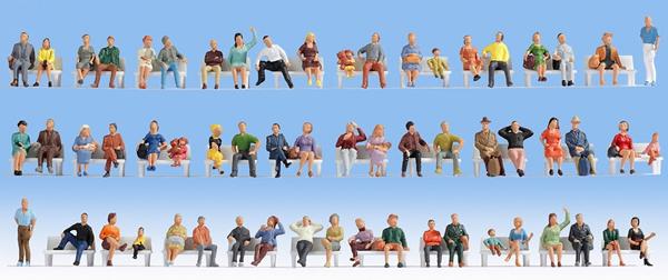 Noch 18402 - Mega Economy Set Sitting People