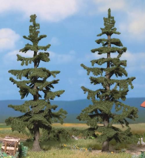 Noch 21821 - Nordic Fir Trees, 2 pcs., 13 cm and 14,5 cm