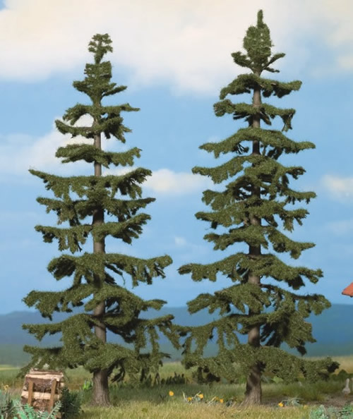Noch 21822 - Nordic Fir Trees, 2 pcs., 17 cm and 19 cm