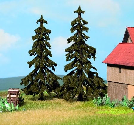 Noch 21921 - Spruce Trees, 2 pcs., 12 and 13 cm