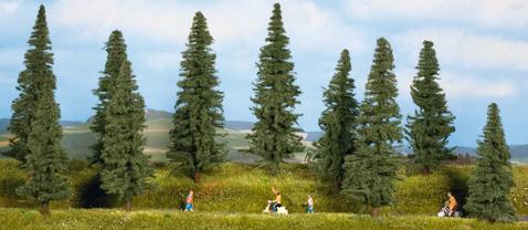 Noch 24240 - Fir trees, 10 pcs., 10 - 14 cm high