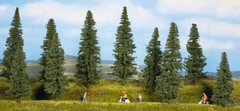 Noch 24250 - Fir Trees, 10 pcs., 4 - 10 cm high
