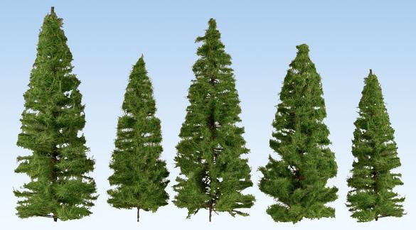 Noch 24500 - Fir Trees, dark green, 7 pieces, 7 – 14 cm high