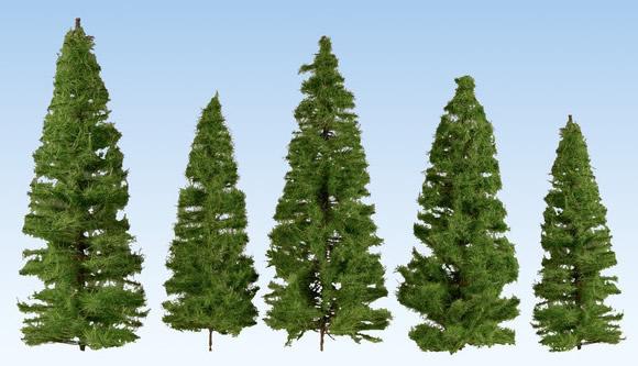 Noch 24510 - Fir Tree, dark green, 40 pieces, 7 – 14 cm high