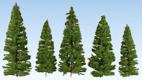 Noch 24530 - Fir Trees, dark green, 18 pieces, 14 – 20 cm high