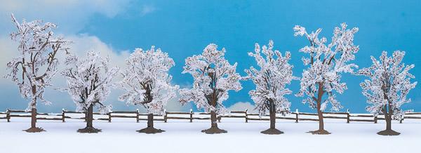 Noch 25075 - Winter trees, 7 pcs., approx 8 - 10 cm high