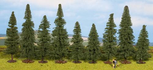 Noch 25086 - Fir Trees, 9 pcs., approx. 8 -12 cm high