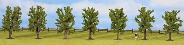 Noch 25088 - Deciduous Trees, 7 pcs., approx. 8 cm high