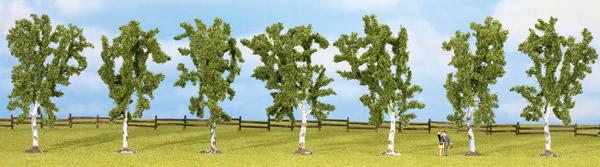 Noch 25096 - Birches, 7 pcs., approx. 10 cm high