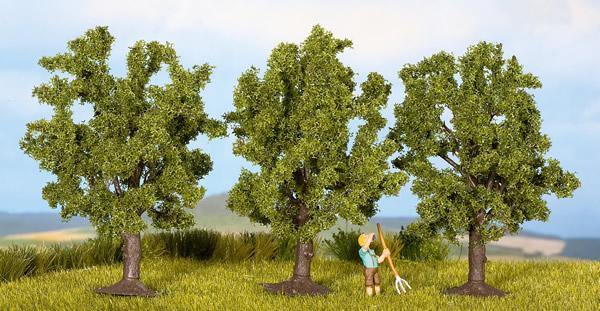 Noch 25110 - Fruit Trees, green, 3 pcs., 8 cm high
