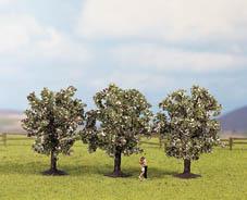 Noch 25112 - Fruit Trees, pink, 3 pcs., 8 cm high
