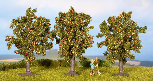 Noch 25113 - Apple Trees, 3 pcs., 8 cm high