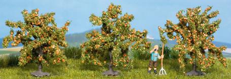 Noch 25114 - Orange Trees, 3 pcs., 4 cm high