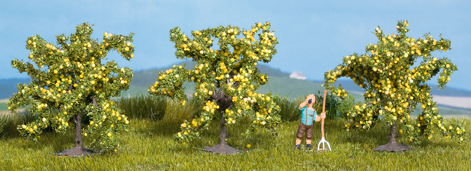 Noch 25115 - Lemon Trees 3 pcs., 4 cm high