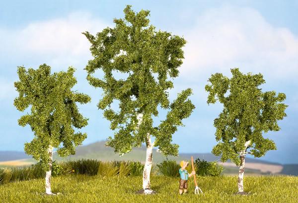 Noch 25120 - Birches, 3 pcs., 8 and 10 cm high